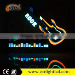 3W Colorful Sound Control Music Light Flexible el Car Sticker Panel 12V 40*30cm Auto Interior Rhythm Lights