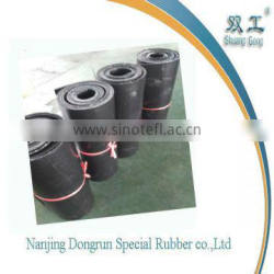 Glossy black cloth rubber sheet