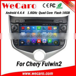 Wecaro WC-MC8029 Android 4.4.4 dvd gps HD for chery fulwin2 car mp3 player USB SD