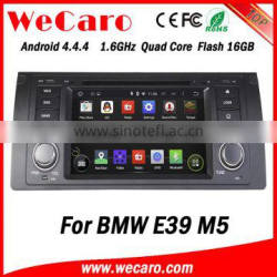 Wecaro android 4.4.4 touch screen in dash navigation System for bmw e39 m5 car dvd player 1995-2003