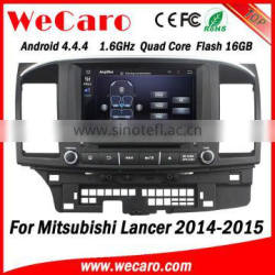 "Wecaro 8"" Android 4.4.4 car navigation system quad core car audio for mitsubishi lancer ex car dvd gps tv tuner 2014 2015 Quality Choice"