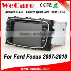 Wecaro WC-FU7608 Android 4.4.4 car dvd player touch screen car audio system with gps for ford-focus 2007 - 2010 Wifi&3G